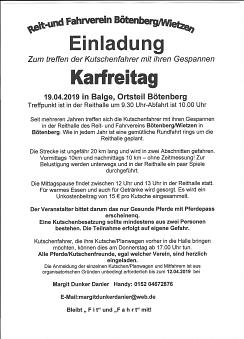 Kutschertreffen 2019©Reit- und Fahrverein Bötenberg-Wietzen