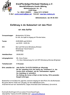Lehrgang Bodenarbeit Anke Buffler©Reit- und Fahrverein Bötenberg-Wietzen