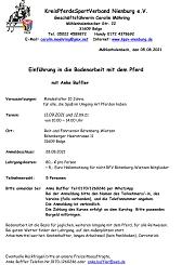 Lehrgang Bodenarbeit Anke Buffler