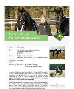 Henriette Schätzchen Lehrgang©Reit- und Fahrverein Bötenberg-Wietzen