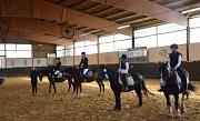 Reiterwettbewerb: Platzierung des Reiterwettbewerbs, von links Male Nietfeld auf Ice, Celine Lücker auf Lanzelot, Melina Köster auf Kleiner Lord, Maira Müller auf Black