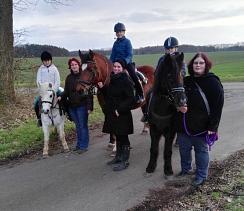 Ausritt Ponygruppe Margit Februar 2019©Reit- und Fahrverein Bötenberg-Wietzen