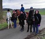 Ausritt Ponygruppe Margit Februar 2019