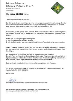 Spenden©Reit- und Fahrverein Bötenberg-Wietzen