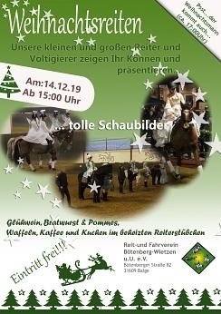 Flyer Weihnachtsreiten 2019©Reit- und Fahrverein Bötenberg-Wietzen