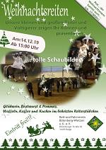 Flyer Weihnachtsreiten 2019